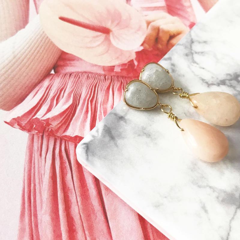 【Spring colored stone】ピアス