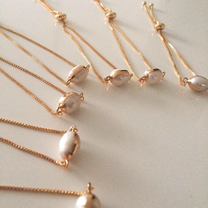 【Gold line Pearl】ブレスレット