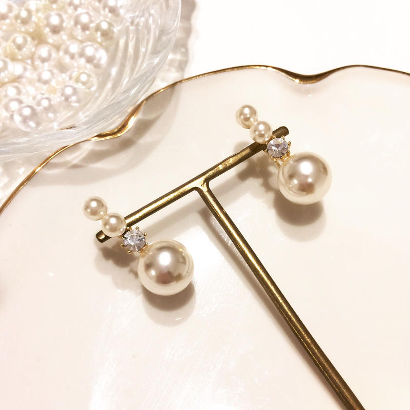 【Triple Pearl】2wayピアス