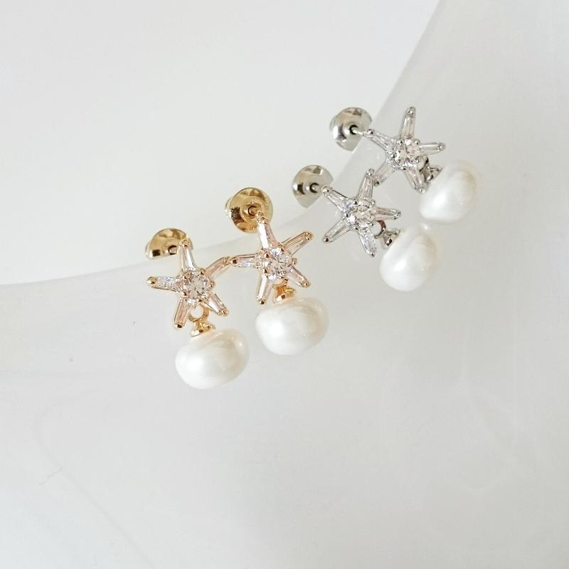 【pearl on star】ピアス