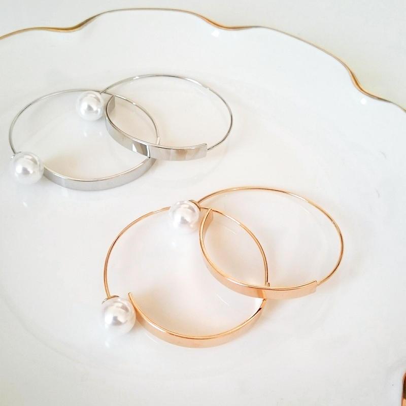 【Pearl hoop】ピアス