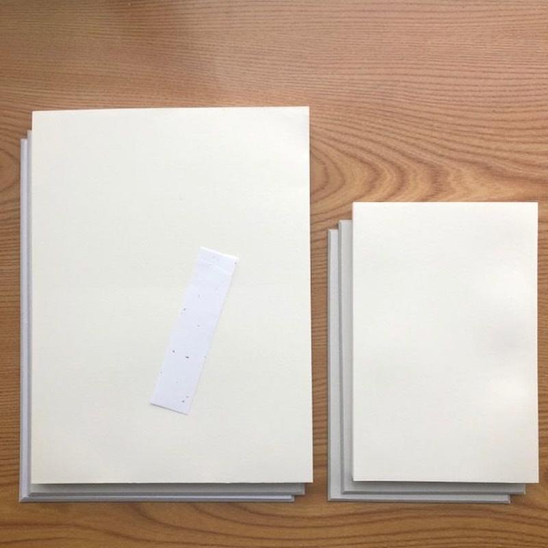 【お試し的新製品】ダブルサイズ<ヨコ>ご朱印帳キット【お寺•きなり】