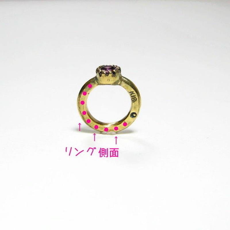 【 ベビーリングの側面 】 刻印・名入れ (文字体選べます)(kokuin-2)