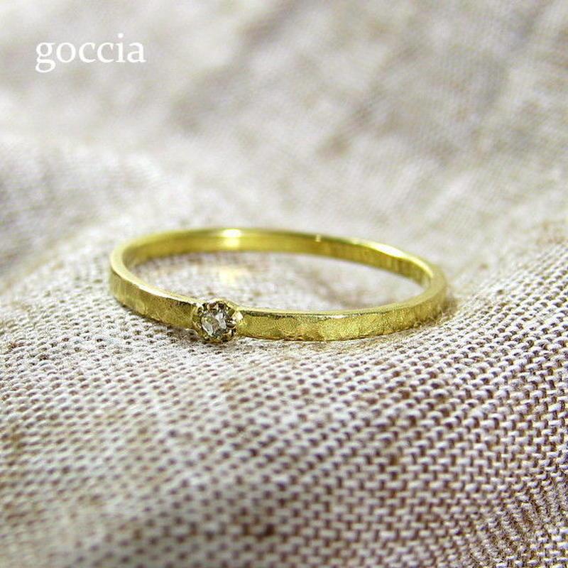 ローズカットダイヤのリング (Legit) 華奢なリング