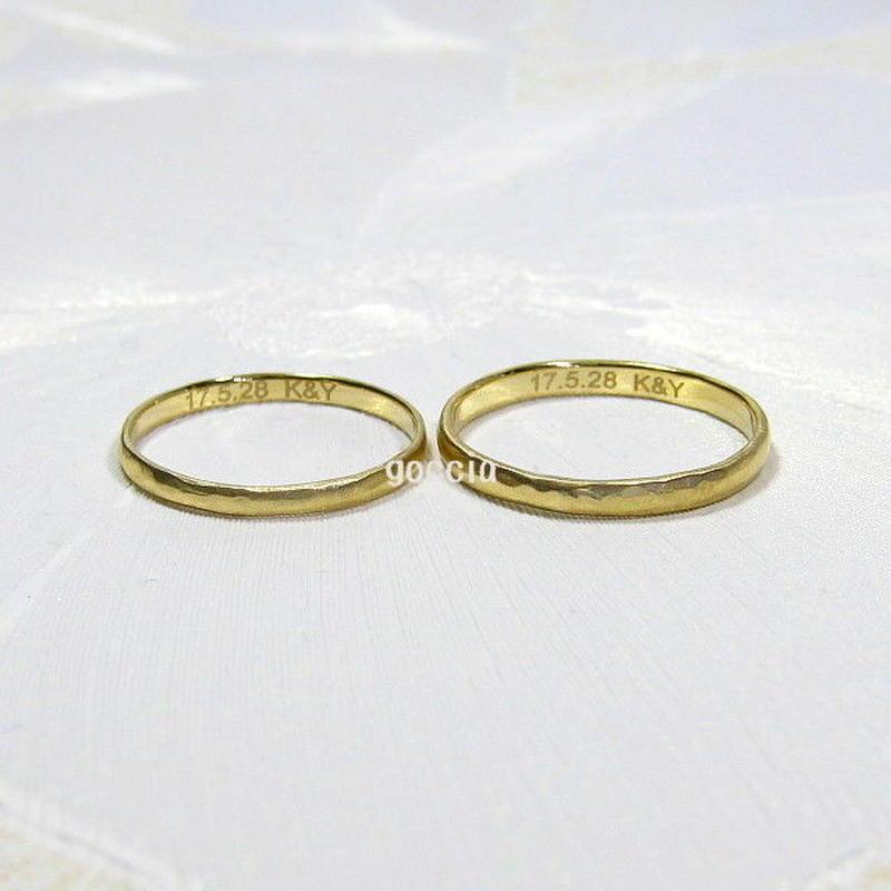 結婚指輪への刻印加工 (マリッジリング内側への刻印)、文字体フォント、選べます