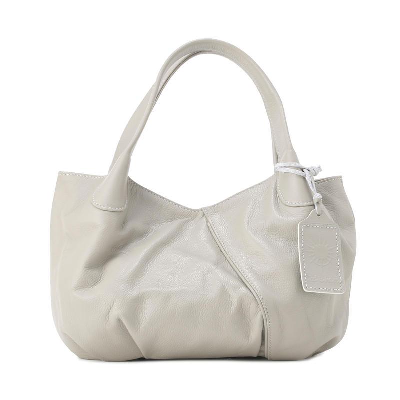牛革製バッグ/パンプキン シャイングレー