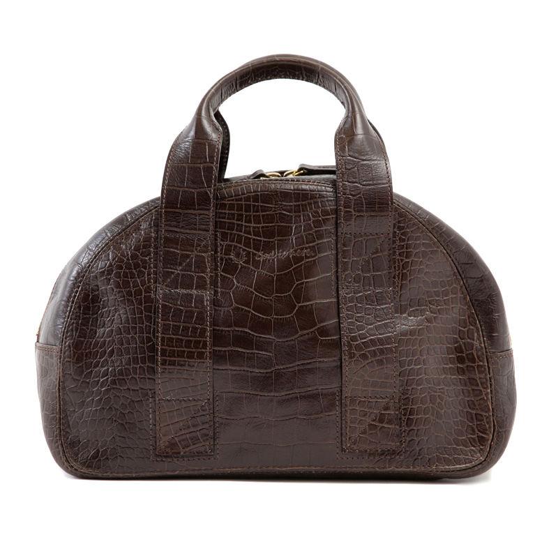 牛革製バッグ/チャーリー ディープブラウン(クロコダイル型押し)