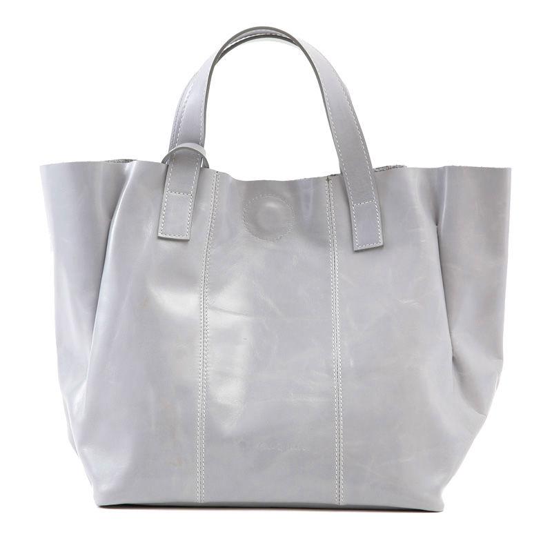 牛革製バッグ/ケイト ライトグレー
