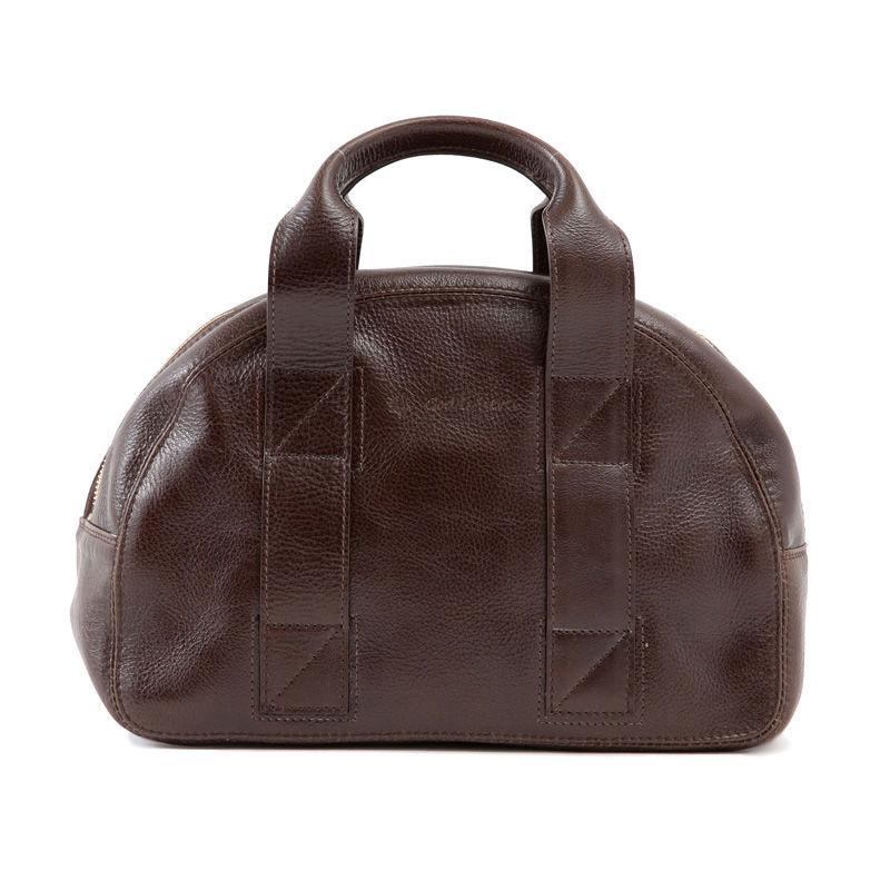 牛革製バッグ/チャーリー ディープブラウン