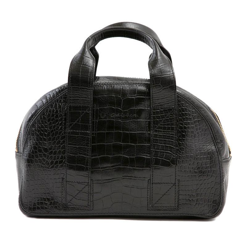 牛革製バッグ/チャーリー ブラック(クロコダイル型押し)