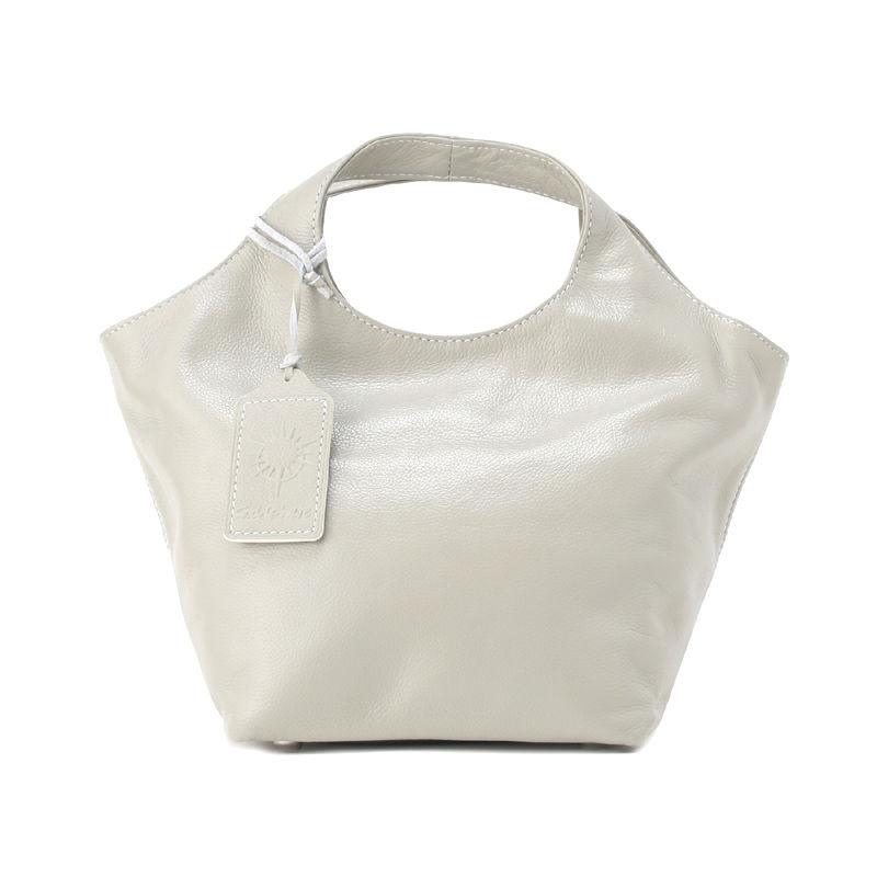 牛革製バッグ/ランチバッグ シャイングレー