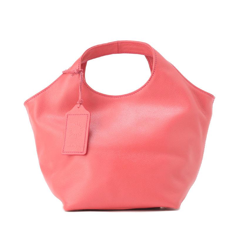 牛革製バッグ/ランチバッグ シャインピンク