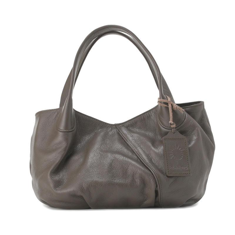牛革製バッグ/パンプキン クレイブラウン