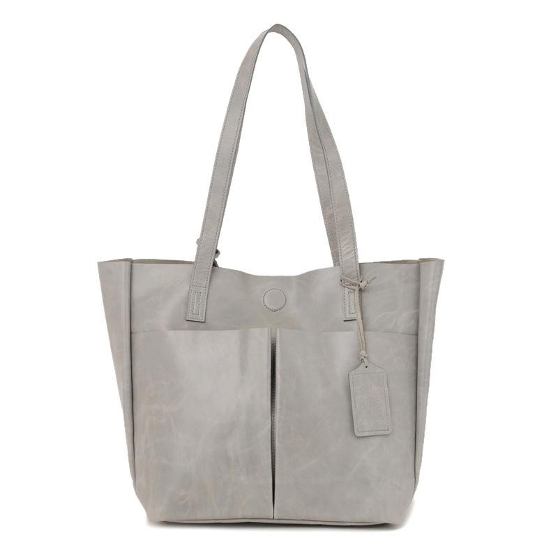 牛革製バッグ/リリー ライトグレー