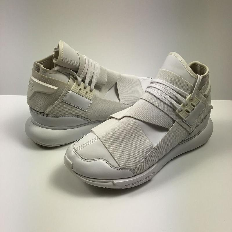 Y-3 adidas QASA HIGH TRIPLE WHITE 26.0cm 【中古】
