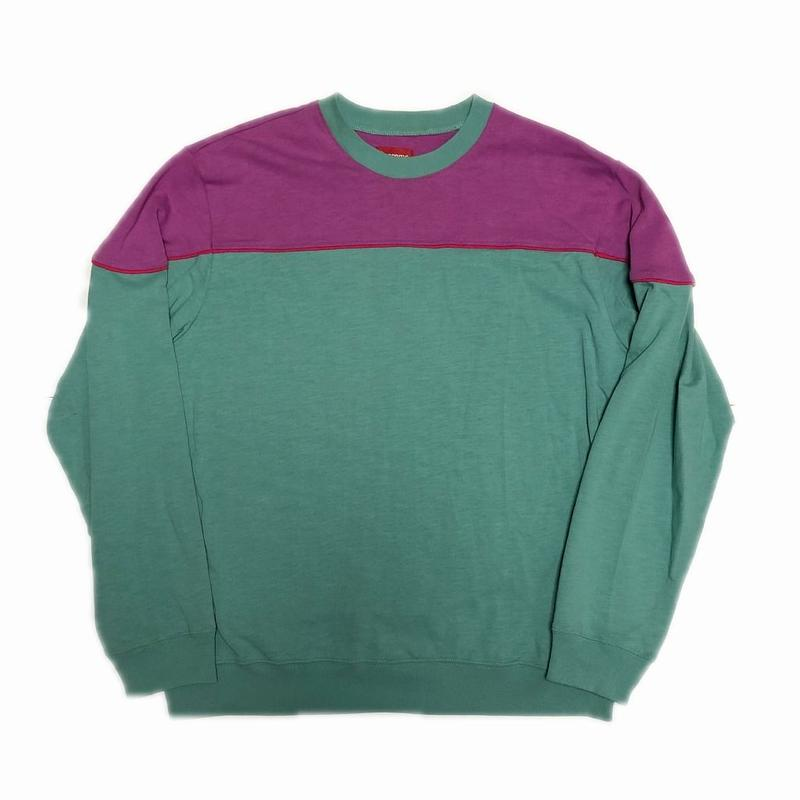 Supreme Yoke Piping L/S Top Sage M 18SS 【中古】