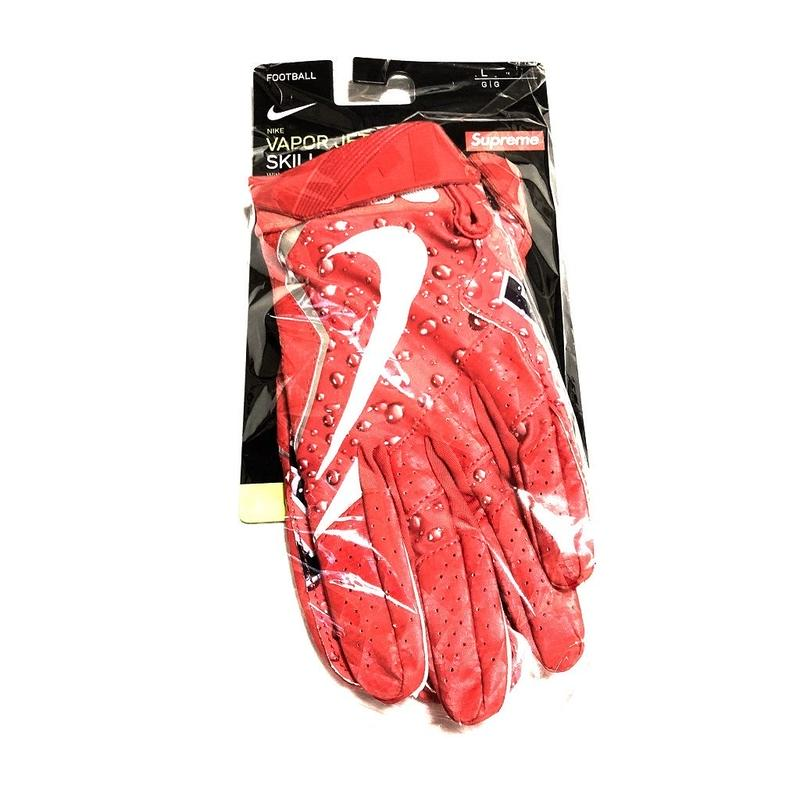 Supreme Nike Vapor Jet 4.0 Football Gloves Red L 18AW その1 【新品】
