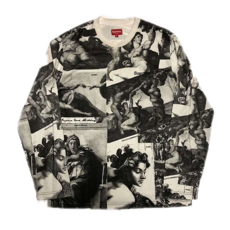 Supreme Michelangelo L/S Top White M 17AW 【中古】