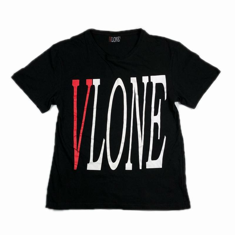 VLONE LOGO TEE BLACK RED M【中古】