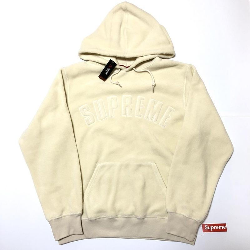 Supreme Polartec Hooded Sweatshirt Natural M 18AW 【新品】