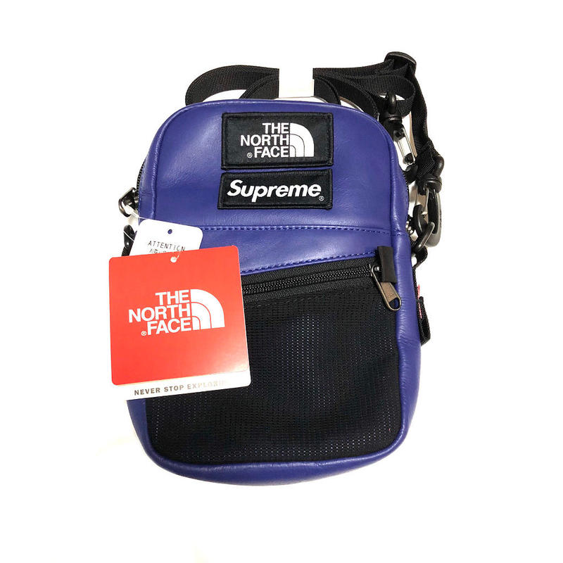 Supreme The North Face  Leather Shoulder Bag Royal 18AW 【新品】