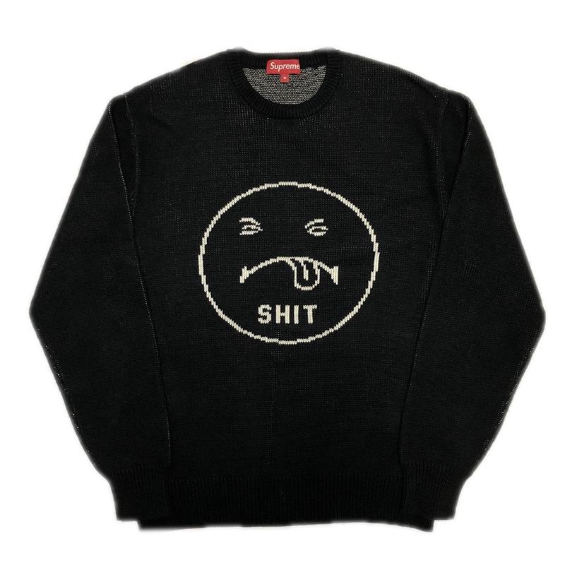 Supreme Shit Sweater Black M 17AW 【中古】