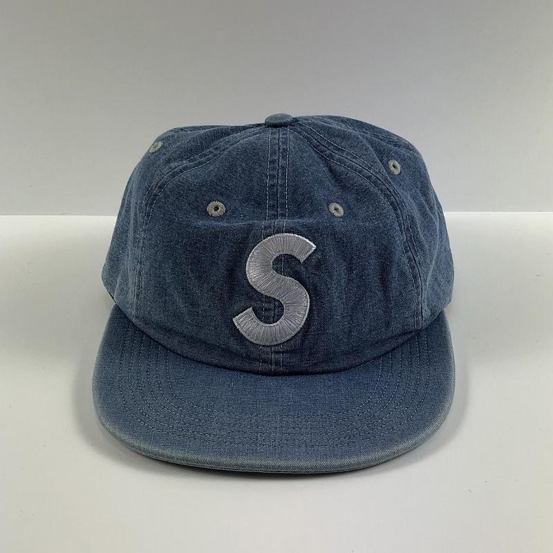 Supreme Washed Chambray S Logo 6-Panel Blue 18SS 【中古】