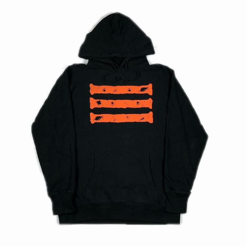 XXIII C'est Vingt-Trois セバントゥア HOODED SWEATSHIRT BLACK ORANGE XL 【中古】