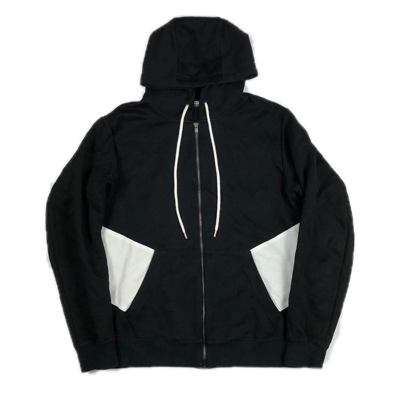XXIII C'est Vingt-Trois セバントゥア ZIP HOODED SWEATSHIRT BLACK XL 【中古】
