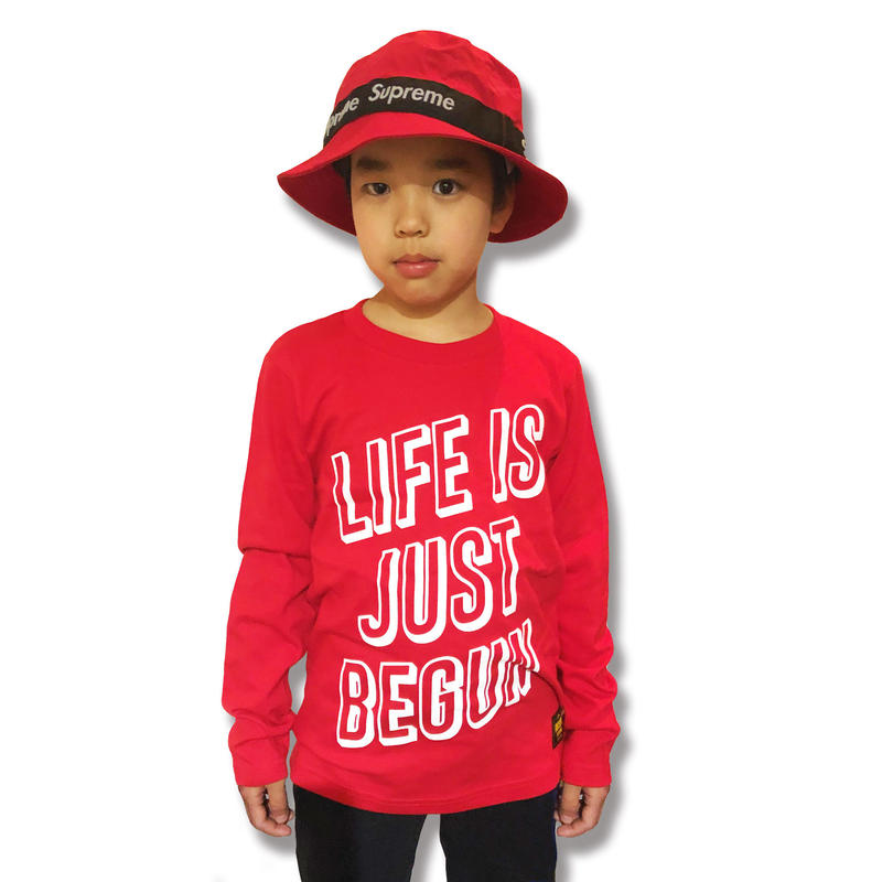 JUST  BEGUN  L/S TEE ジャストビィガン  ロンTEE  RED