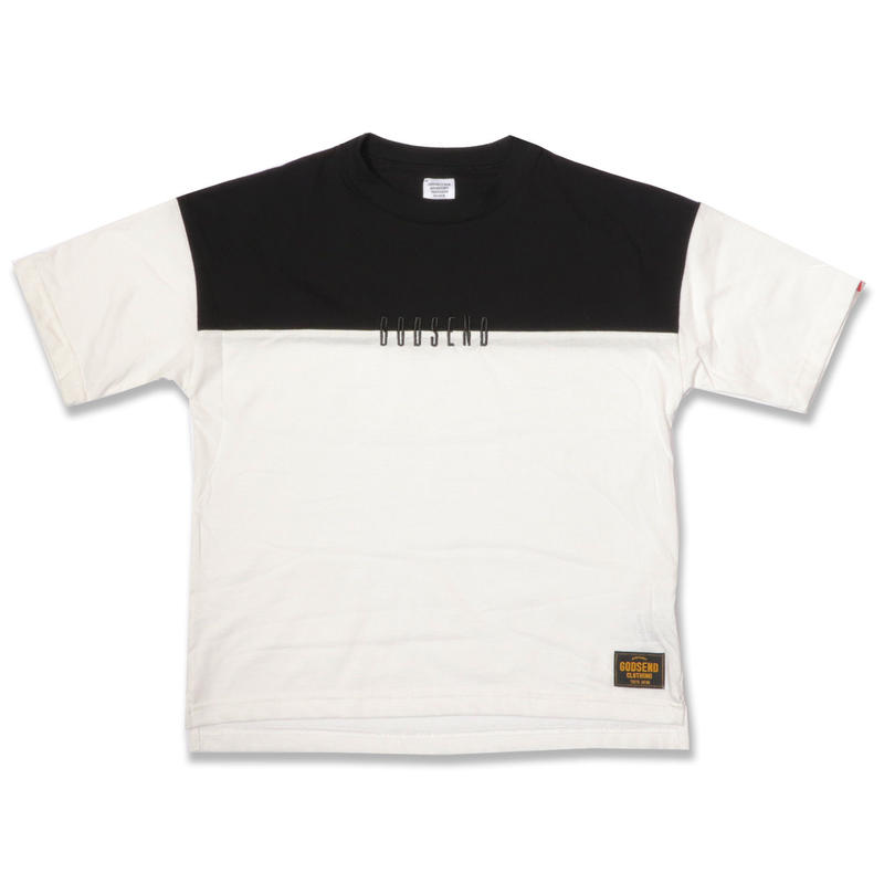 BICOLOR  EMBROIDERY  TEE  WHITE