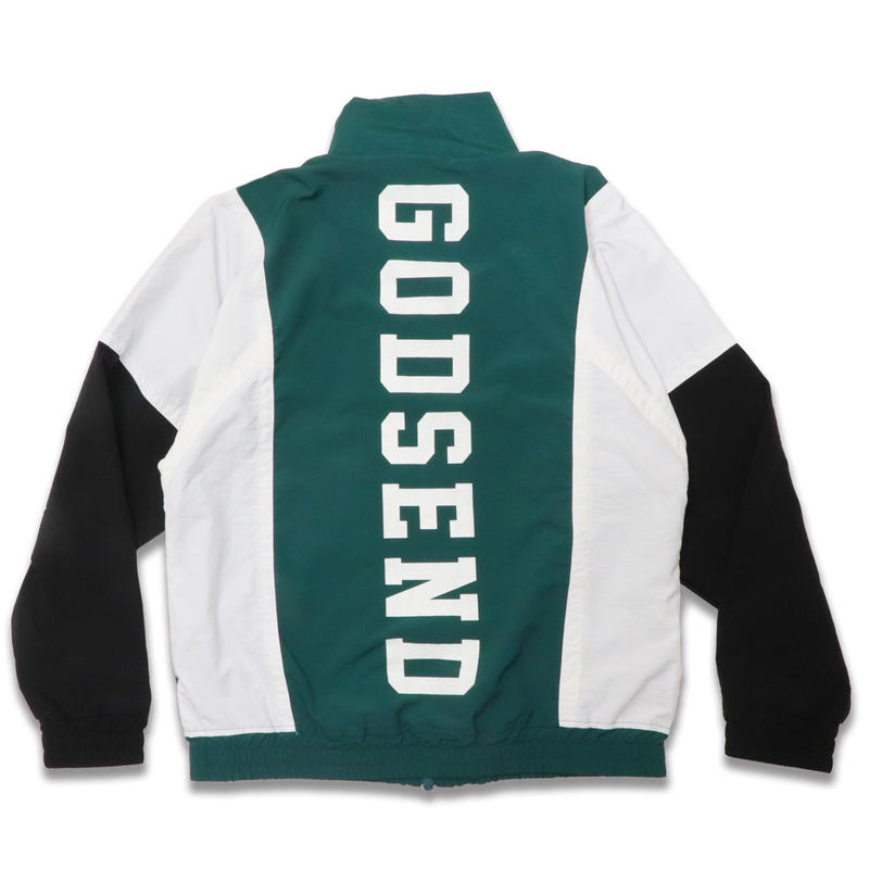 NYLON  TRACK  JACKET  GREEN