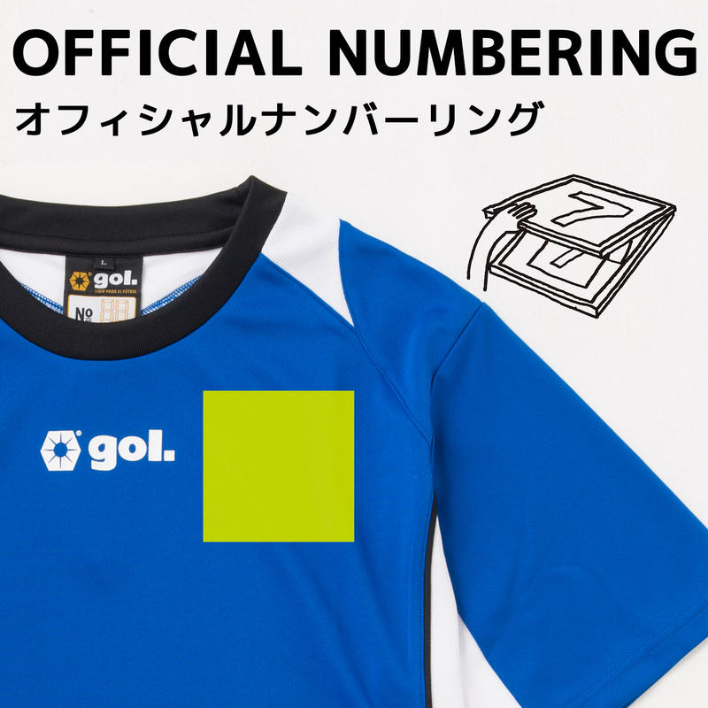 【シャツ前面】エンブレムプリント