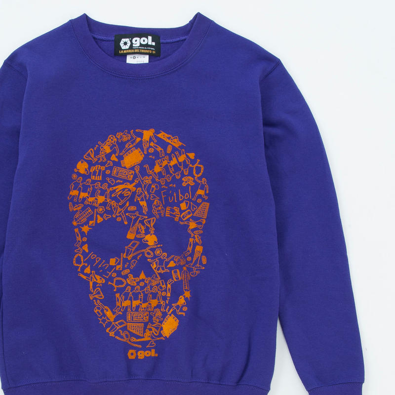 スウェットシャツ<SKULL>(G893-702)