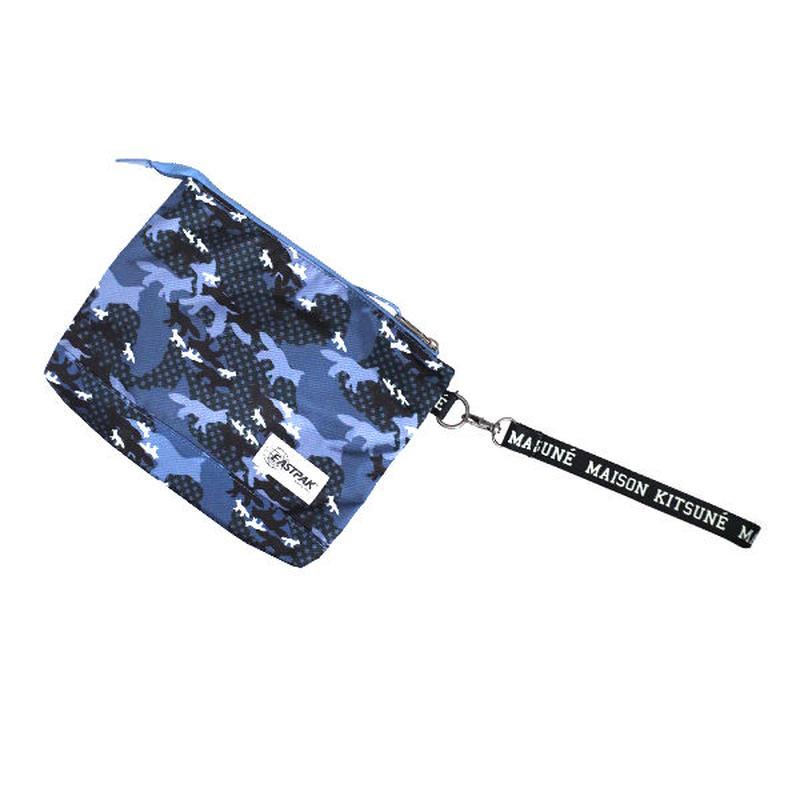 メゾンキツネ MAISON KITSUNE ポーチ メンズ レディース SPEAU809-MULTI ブルー 送料無料