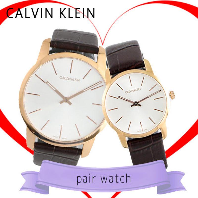 ペアウォッチ カルバンクライン 腕時計 K2G21629 K2G23620 シルバー ブラウン 送料無料
