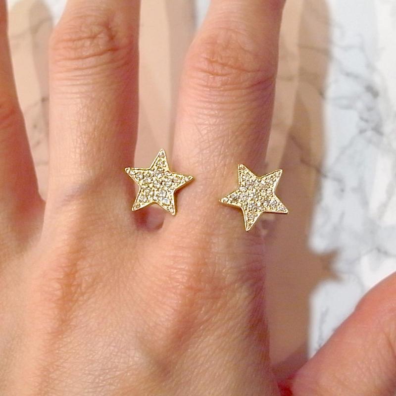 【KOMI】Two Star Ring ゴールド