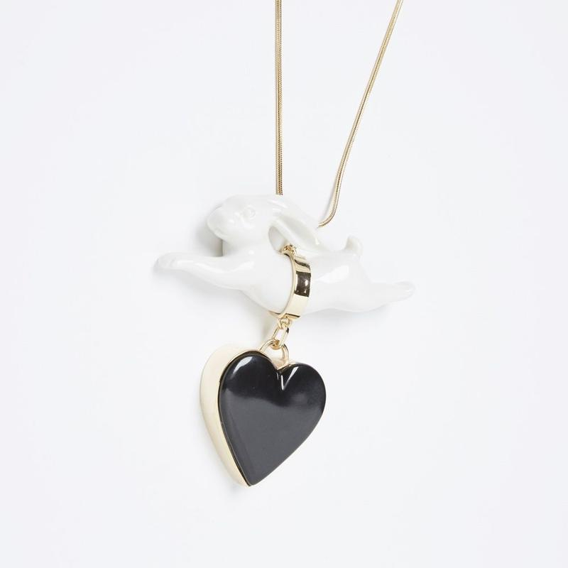 【ANDRESGALLARDO】 RABBIT JUMPING HEART NECKLACE