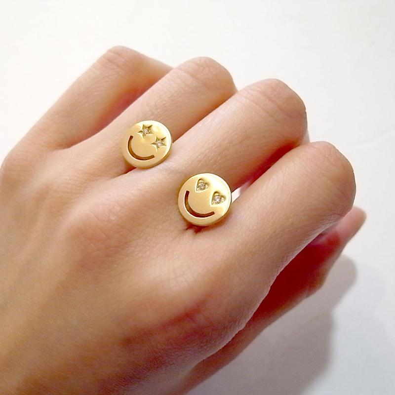 【KOMI】2 smiles ring
