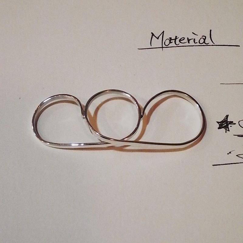 【Vibe Harsloef】 3 finger ring シルバー