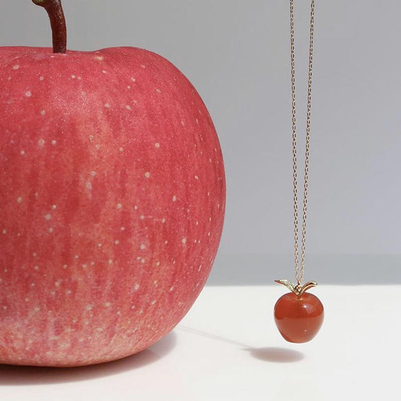 【KOMI】Gemstone Apple Necklace