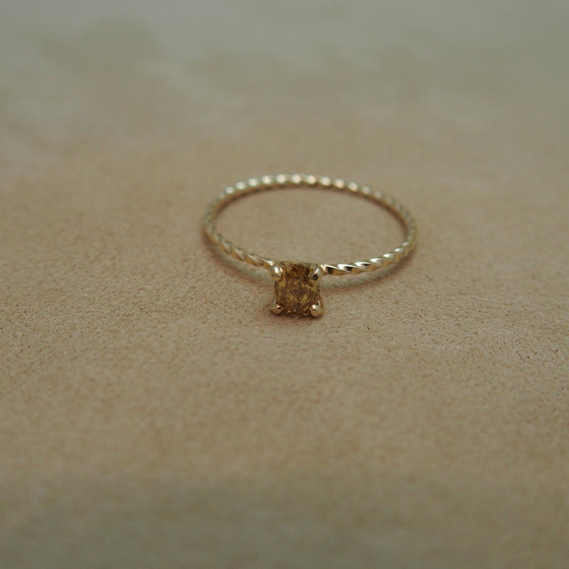 Brown Diamond Petit Ring(s/q)