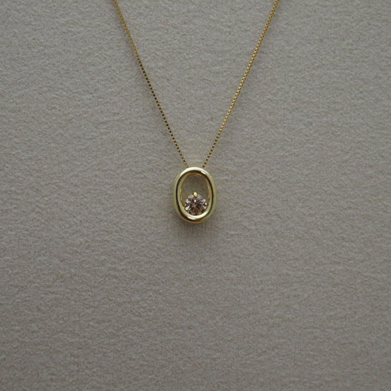 """O"" Brown Diamond Necklace"