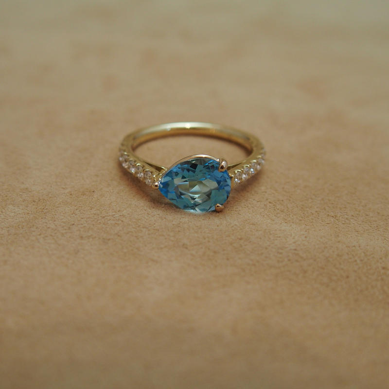 Swiss Blue Topaz (P/S) Ring