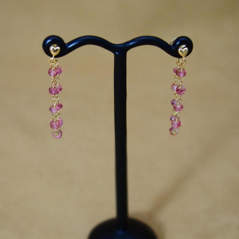 PinkTopaz LooseHoop Earrings