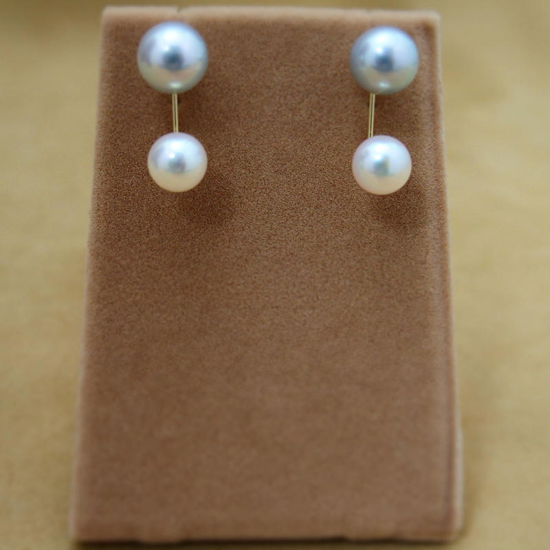 Double Akoya Pearl Earrings