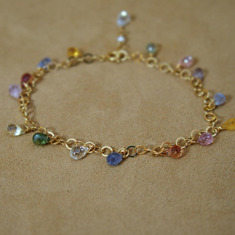 MultiSapphire Chain Bracelet(d/c)