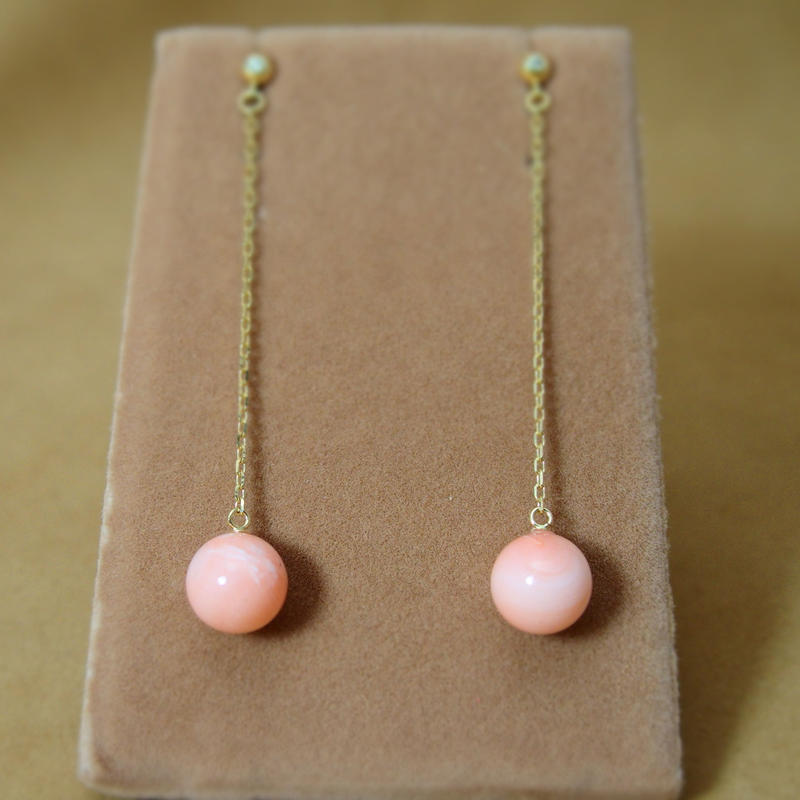 Coral Line Earrings