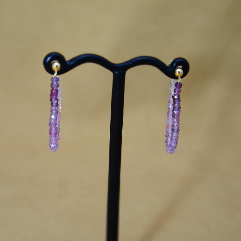 PurpleSapphire LooseHoop Earrings