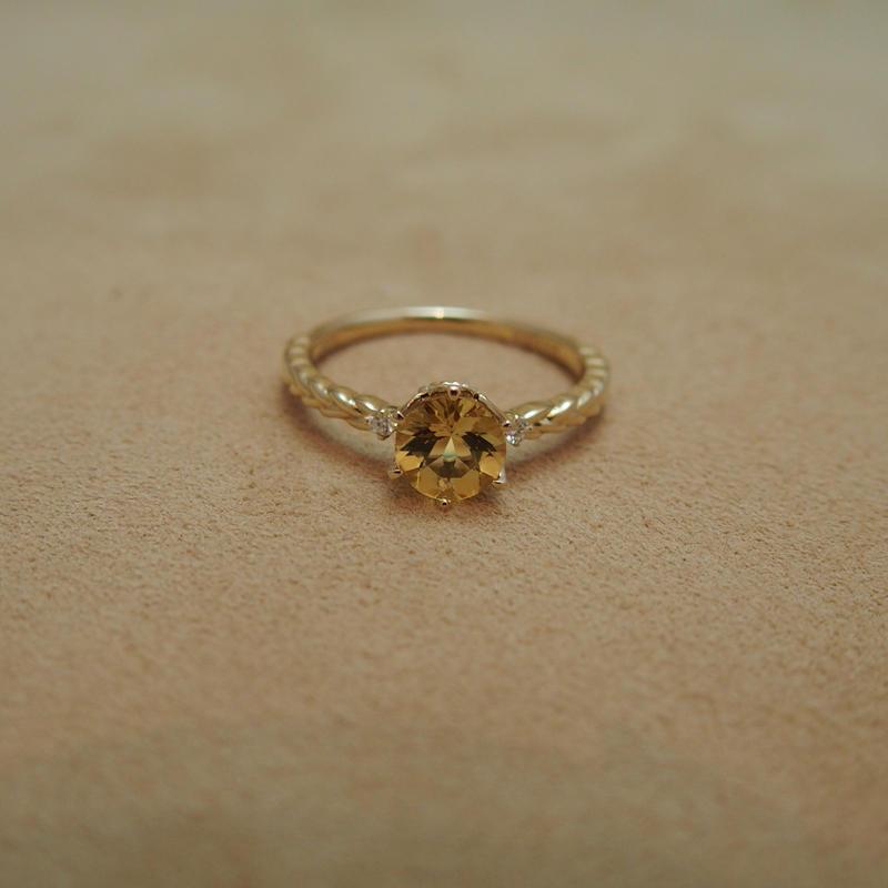 Heliodor Round Ring